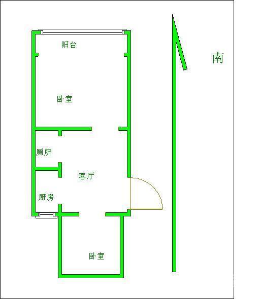 前后采光房屋户型图