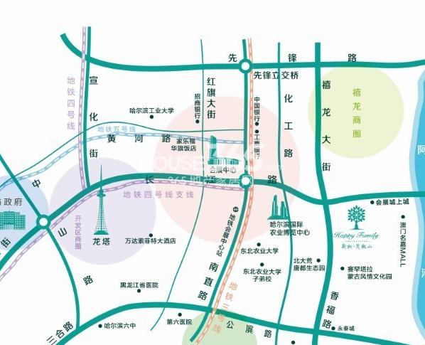 新松茂樾山交通图