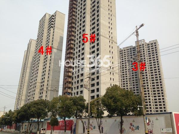 朗诗�园3-5#楼工程进度(2015.3)