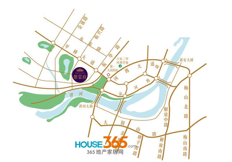 紫棠府交通图