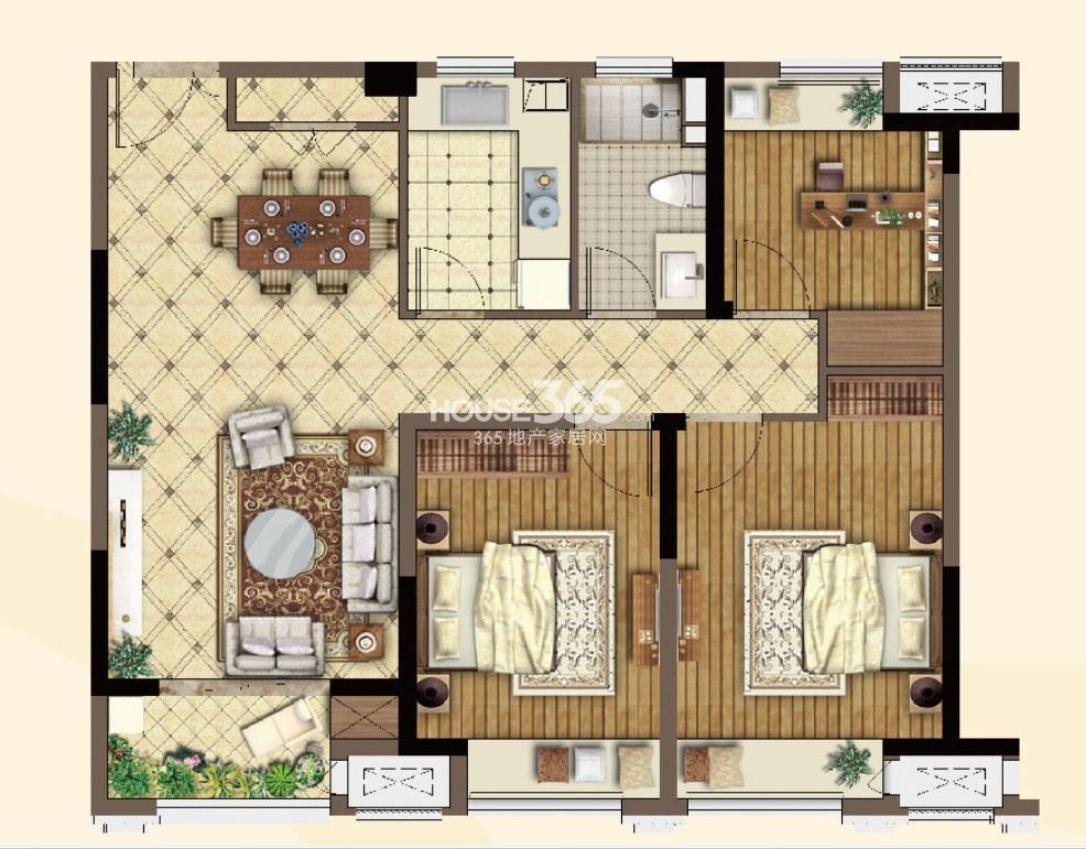 高层-103㎡三房两厅一卫