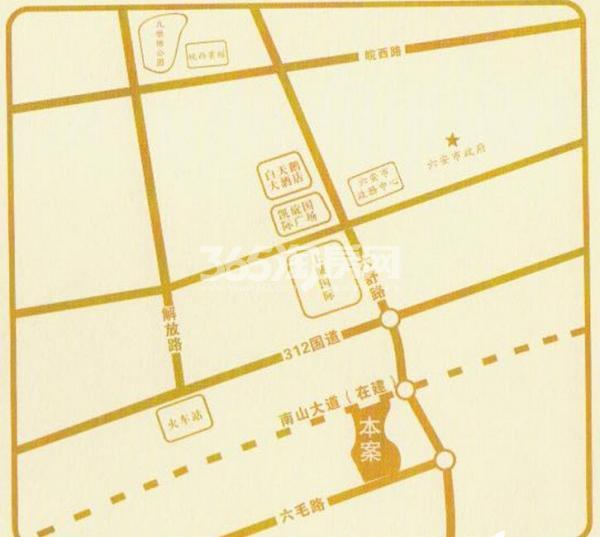 兴茂悠然南山(高层)交通图