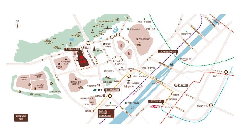 明发香山郡交通图