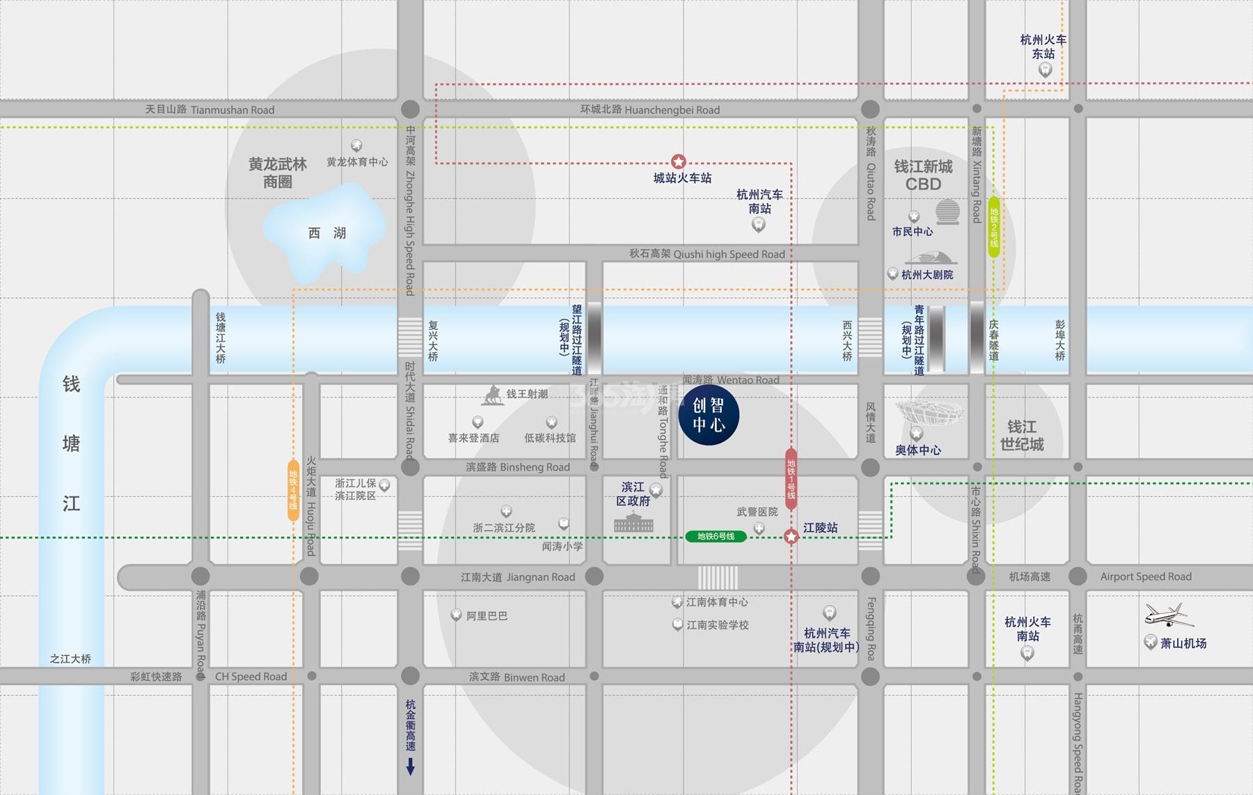 金铂湾交通图