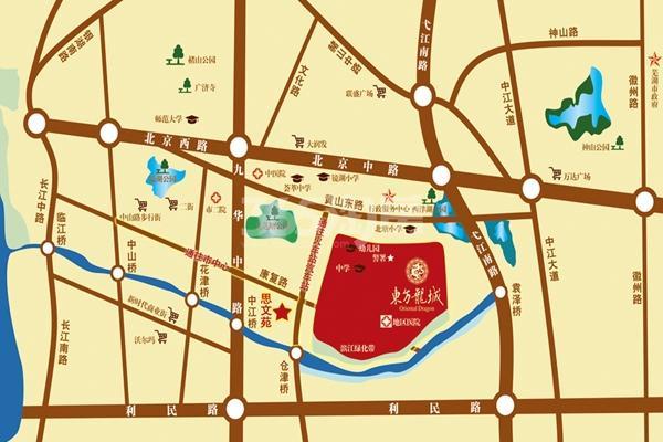 东方龙城采薇苑交通图