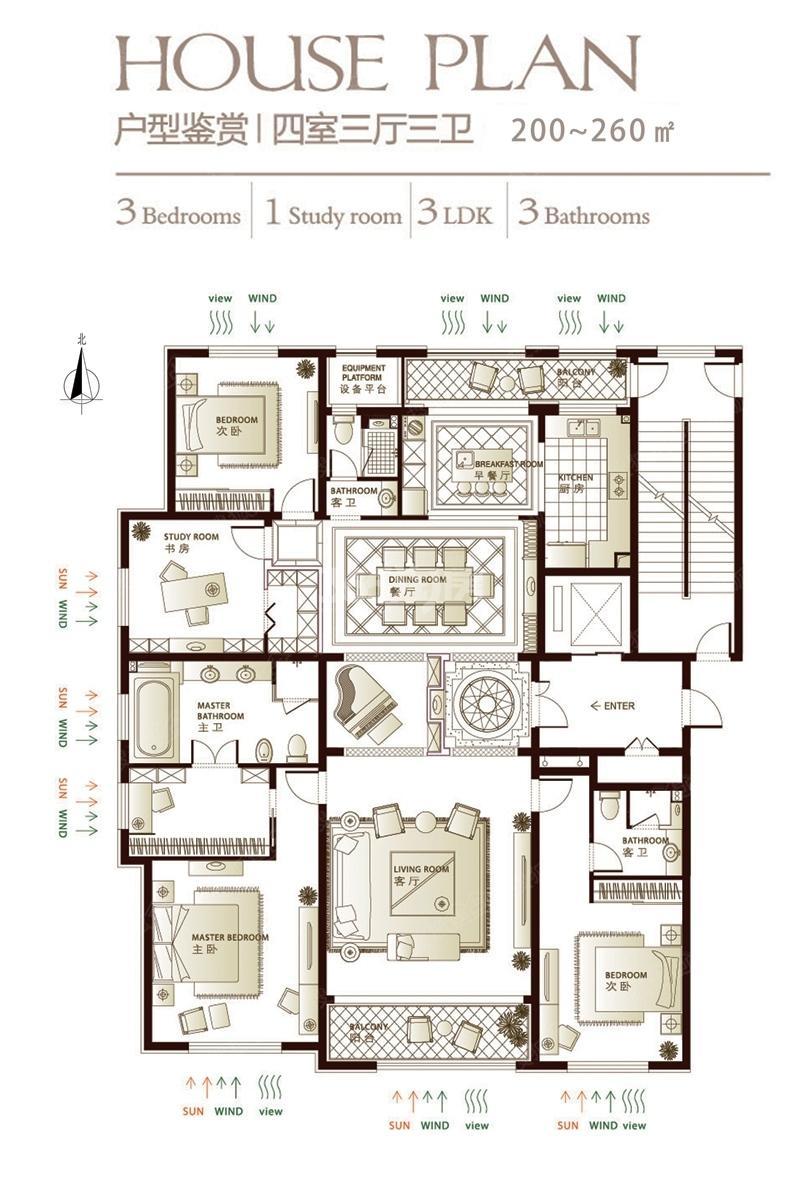 林荫大院11#12#户型图