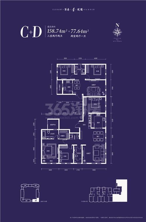 4号楼c.d户型236.38平米