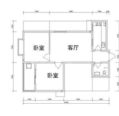 雅逸新城二期4#/5#楼F户型2室1厅1厨1卫81.78㎡