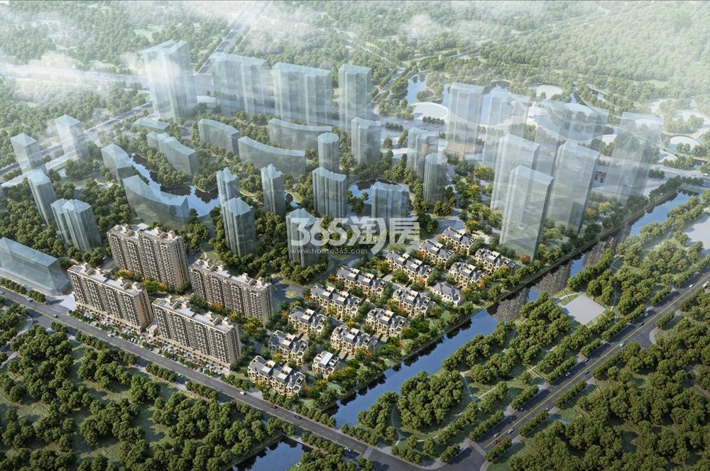 东海水景城鸟瞰图