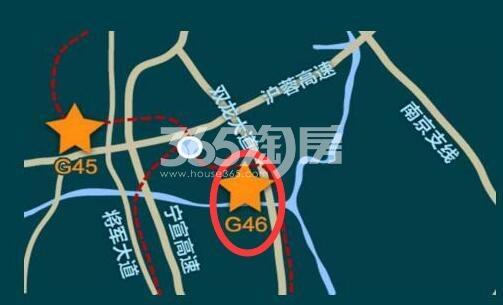 万科南站G46地块交通图