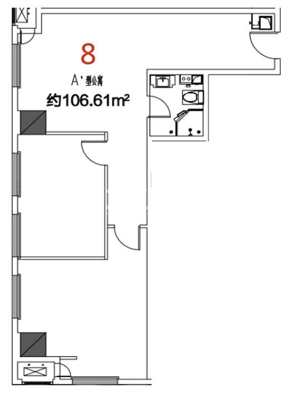 08户型106.61平米