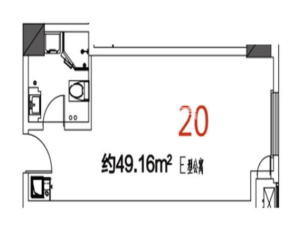 20户型49.16平米