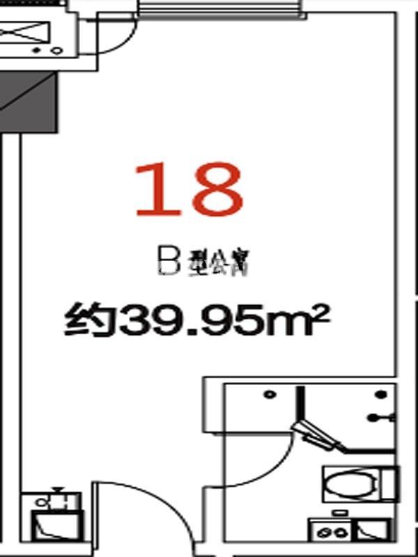 18户型39.95平米
