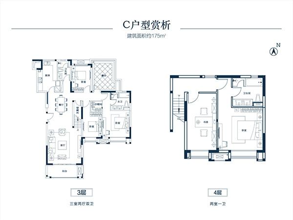 叠墅五室两厅175㎡C户型