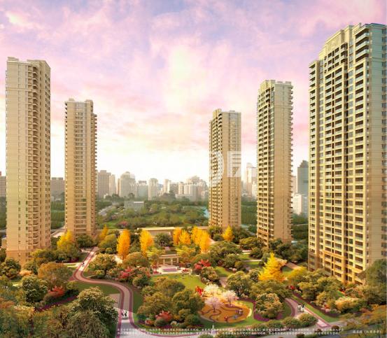新城香悦公馆景观效果图