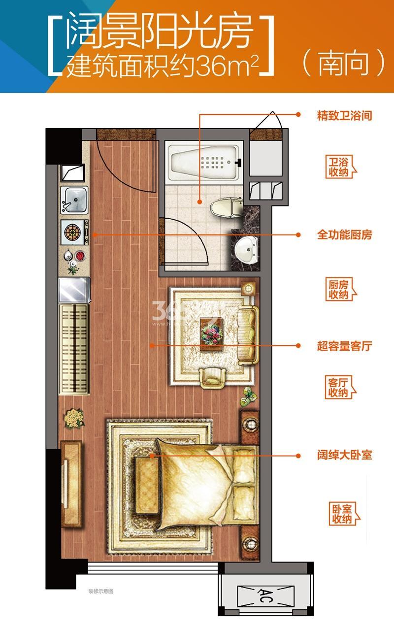 红星大都汇约36平SOHO公寓户型图