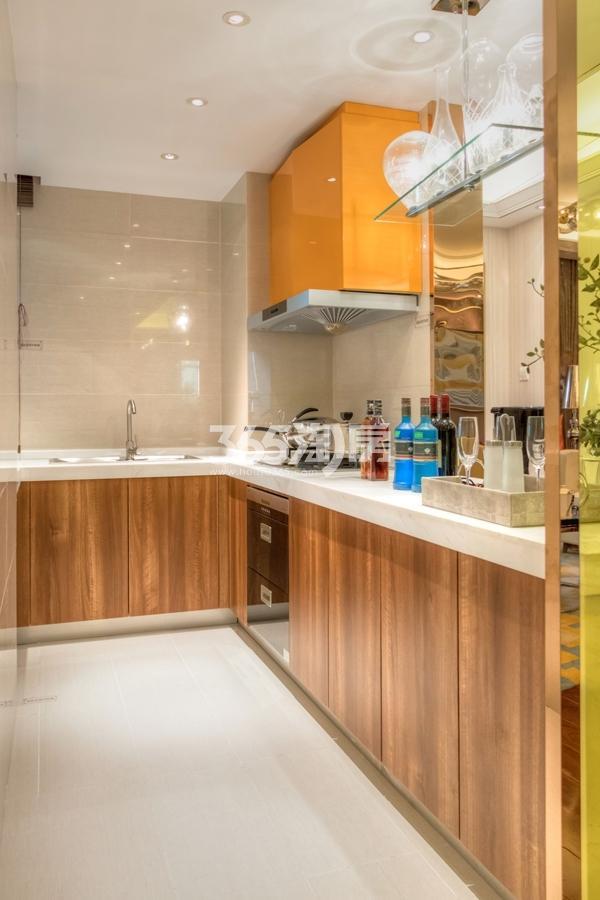 长泰国际社区89平样板间厨房