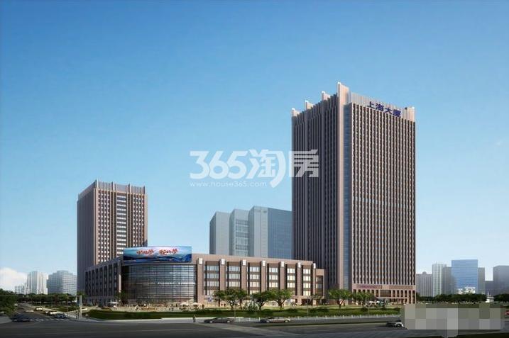 上海大厦鸟瞰图