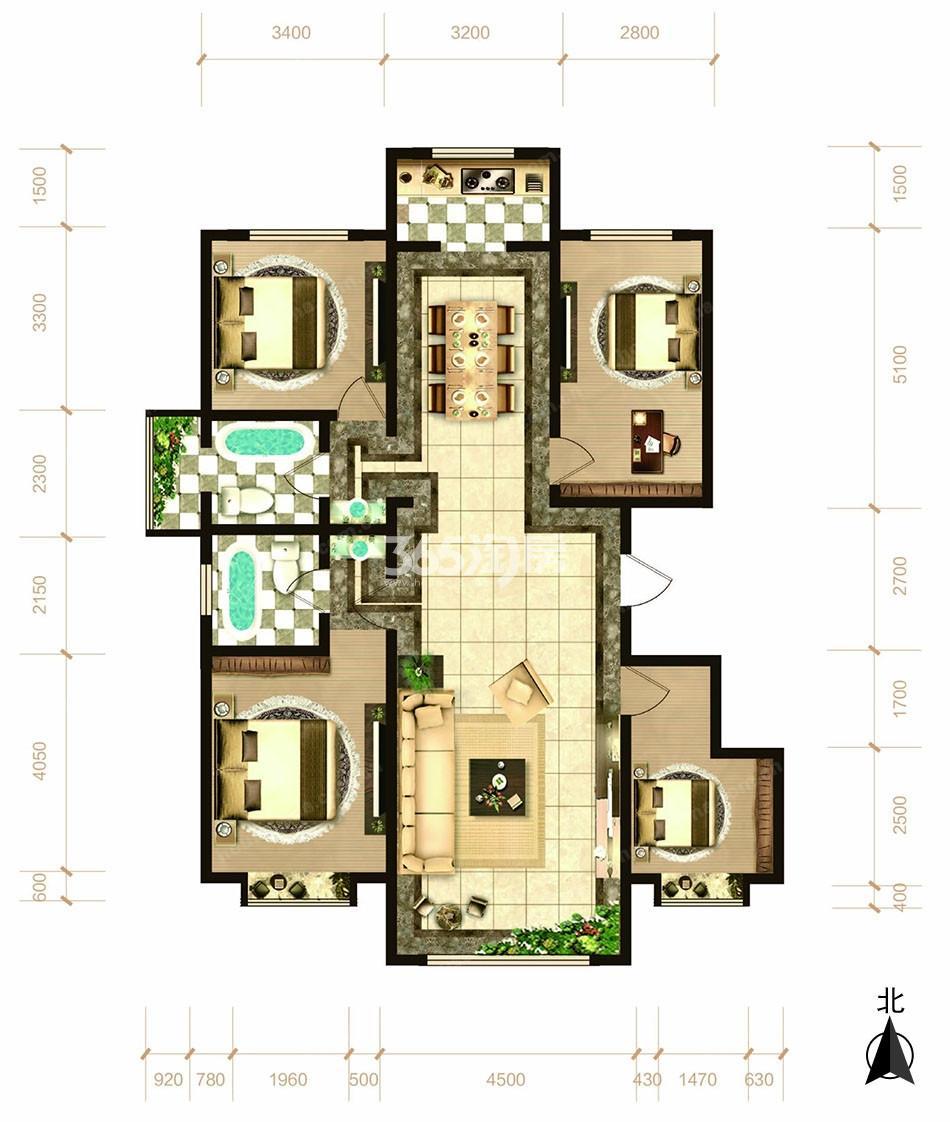四室两厅两卫138平方米