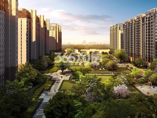 南京溧水万达广场景观中轴鸟瞰图