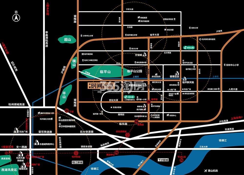 宋都时间名座交通图