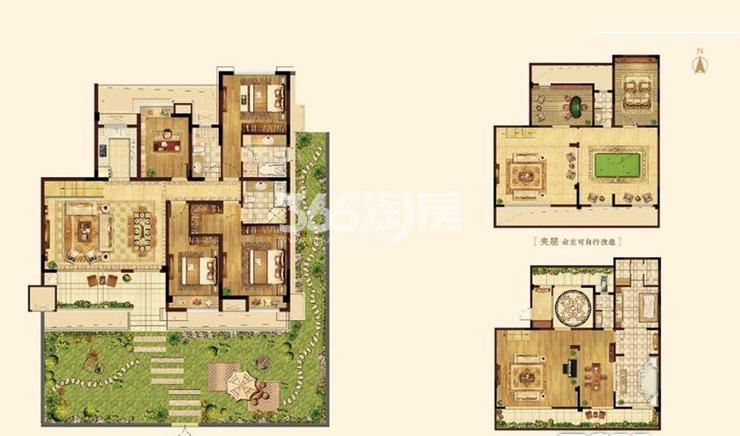 蓝光雍锦园洋房168平叠翠苑户型图