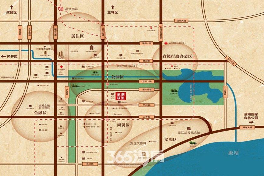 滨湖双玺交通图