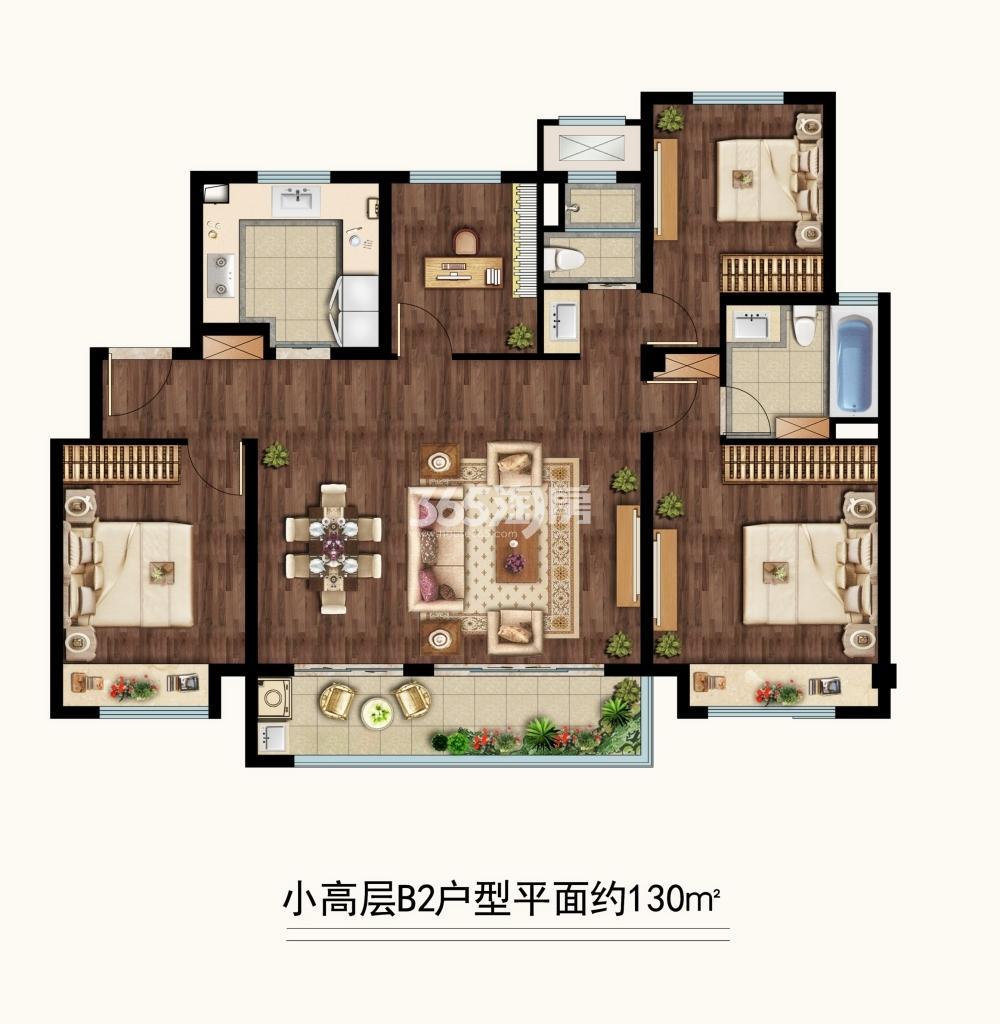 中海凤凰熙岸三期小高层约130平B2户型