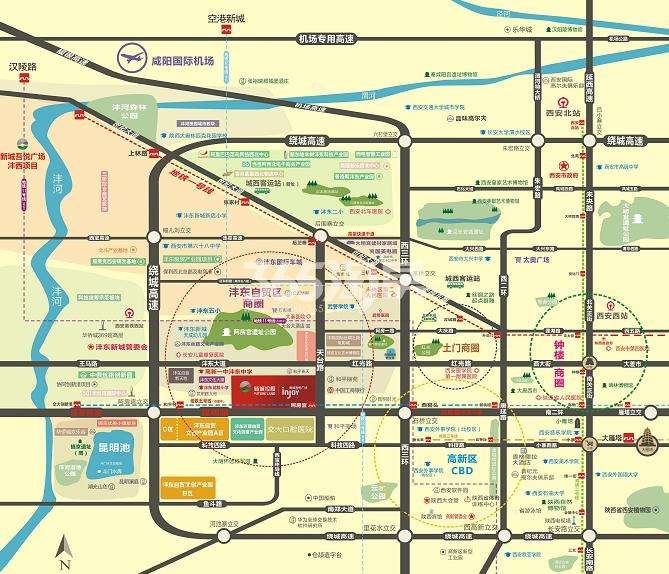 西安新城吾悦广场交通图