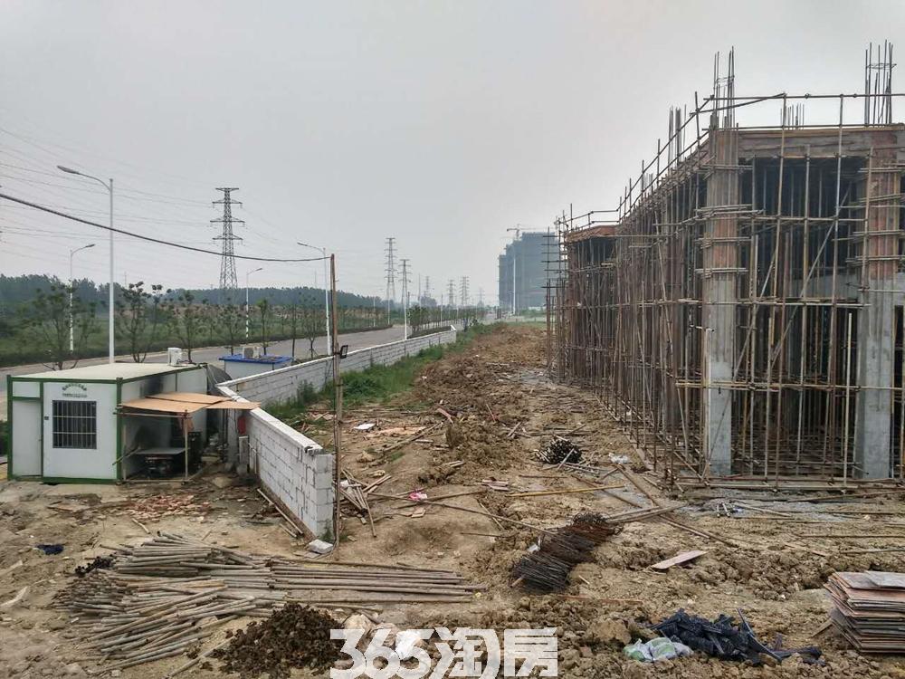 少荃府售楼部在建实景图(2017.7)