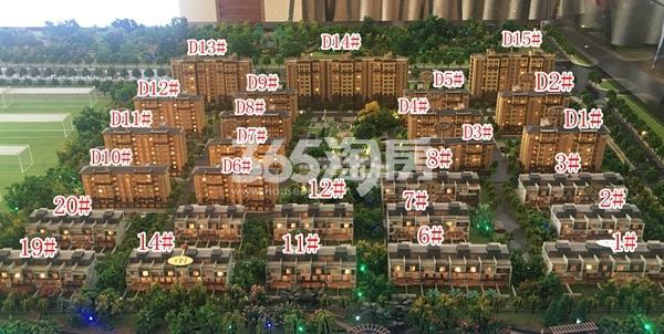 恒泰山水文园项目沙盘实景(9.1)