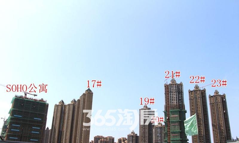金科海昱东方整体远视工程进度图(2017.9.4)