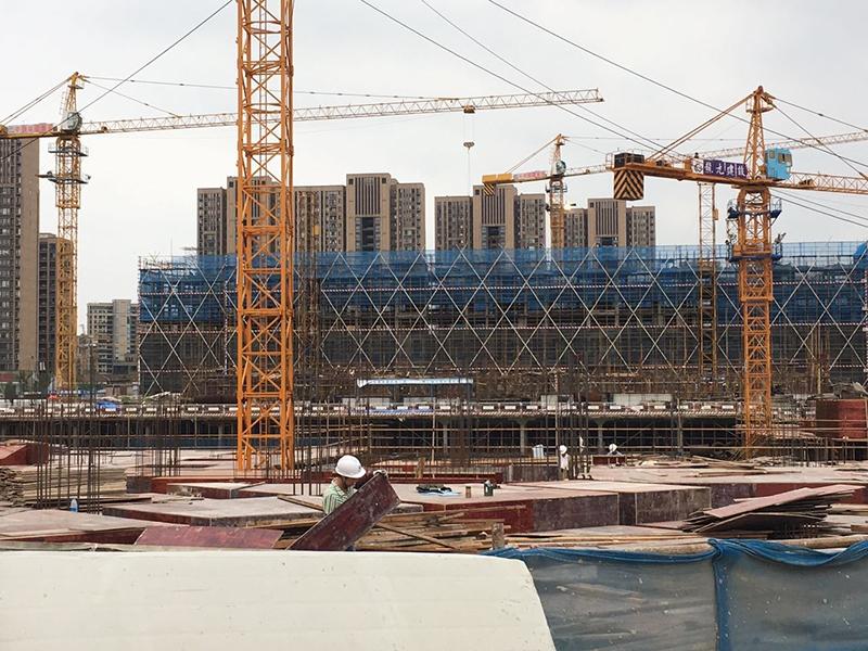 中国铁建西湖国际城施工实景(2017.8)