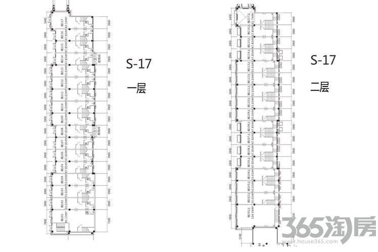 祥源城湖山小筑S17-114商铺户型
